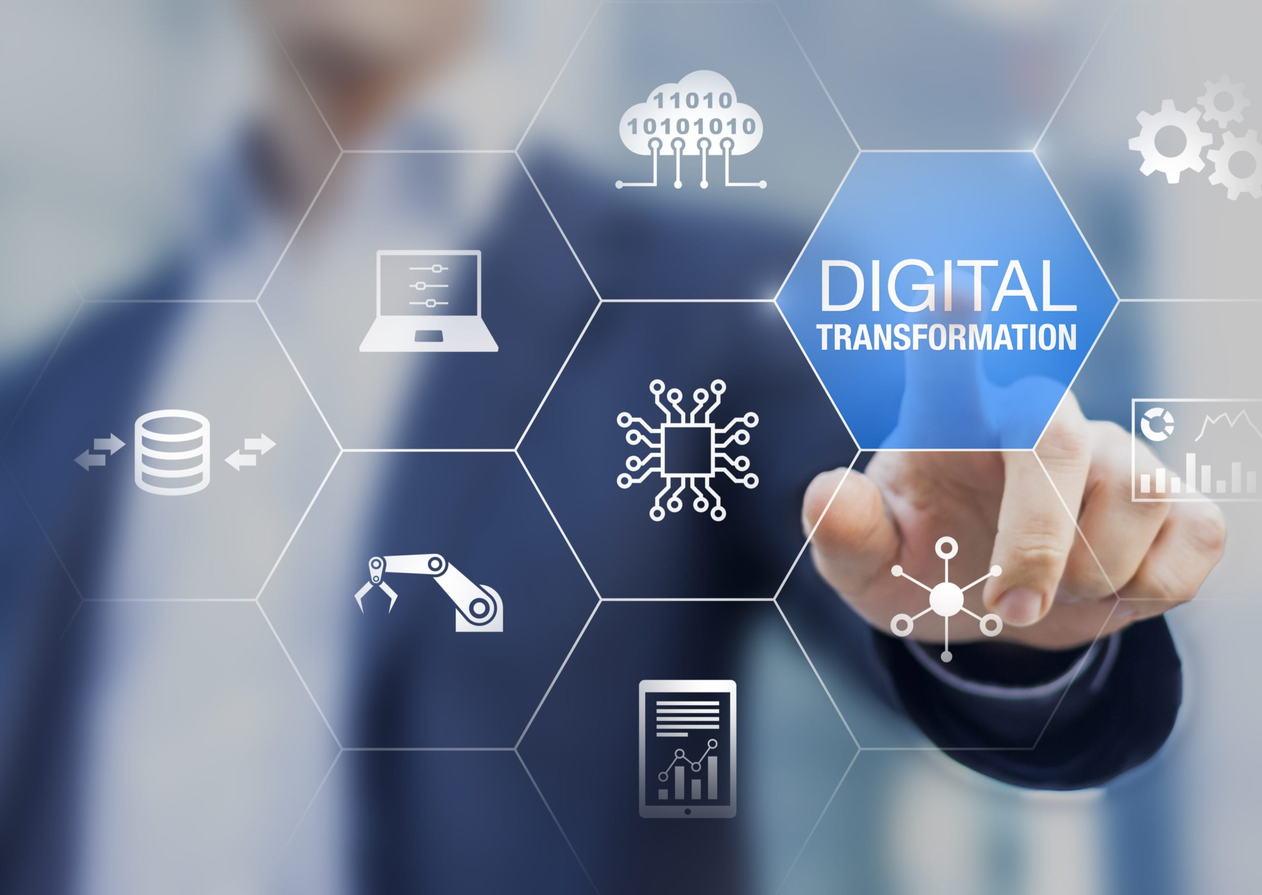 Digital transformation technology strategy, digitisation and digitalisation of business processes and data, optimise and automate operations, customer service management, internet and cloud computing