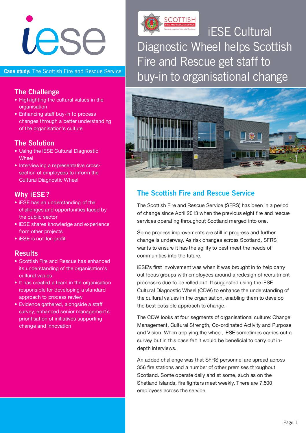 Support for Organisational Change